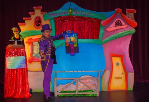 Decor kindertheater Poppenkast XXL